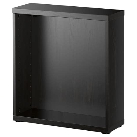 besta 60x20x64 best 197 frame black brown 60x20x64 cm ikea