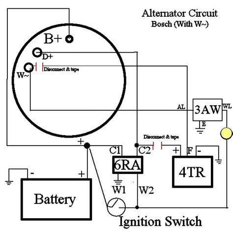 volkswagen alternator wiring diagram volkswagen