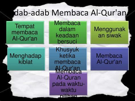 Kedahsyatan Membaca Al Quran adab membaca al quran pictures to pin on pinsdaddy