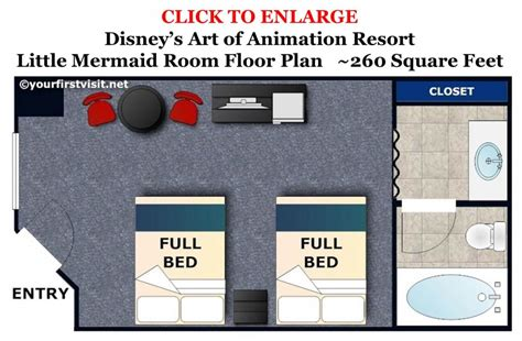 art of animation resort floor plans review the little mermaid area and rooms at disney s art