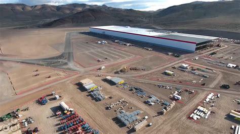 tesla outside elon musk gigafactory drone footage business insider
