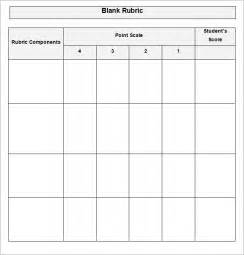 Grading Rubric Template by Blank Rubric Template Rubric Template Free Premium