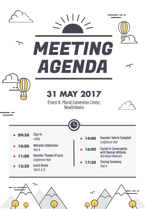 design a quick poster design a beautiful and visually engaging agenda poster