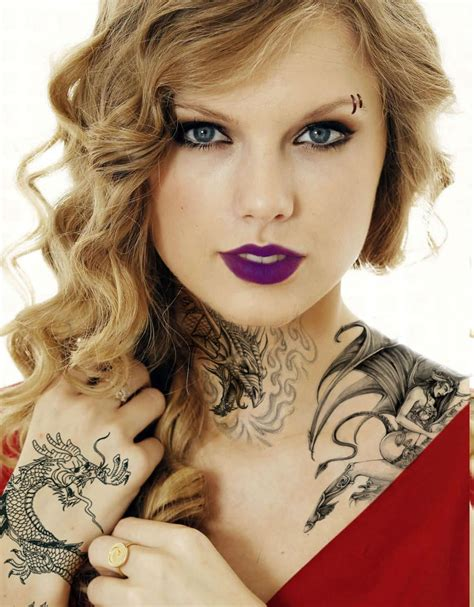 does taylor swift have tattoos edit by nickilou23 on deviantart