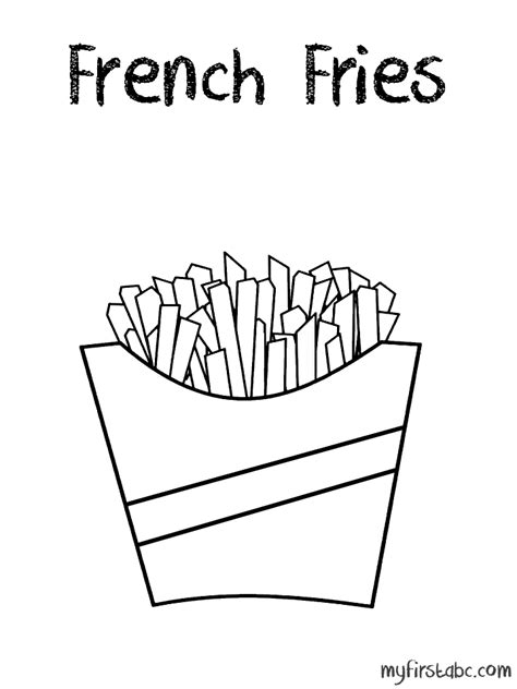 fries template fries coloring page coloring home