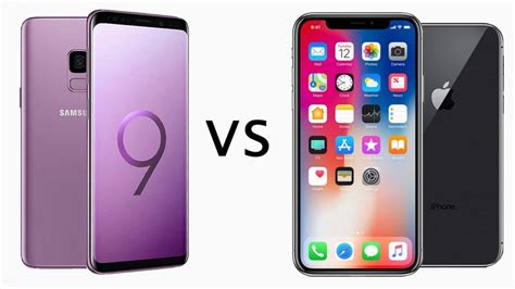 iphone v s samsung s9 samsung galaxy s9 vs iphone x comparison review tech advisor