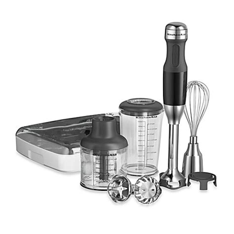 hand blender bed bath and beyond buy kitchenaid 174 5 speed hand blender in black from bed