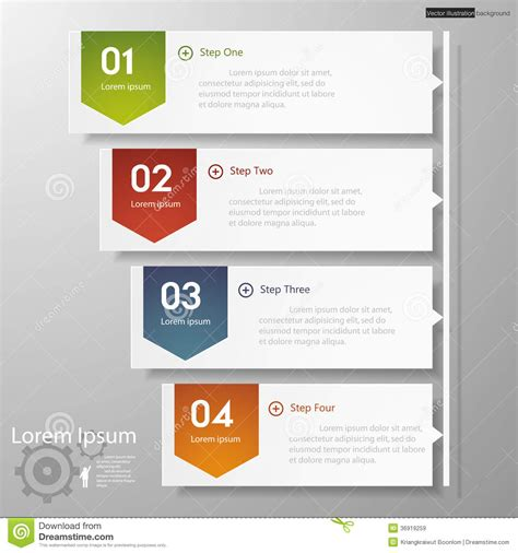 numbers timeline template design clean number banners template timeline royalty