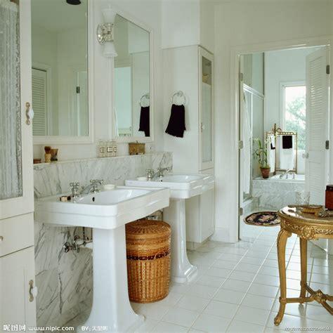 Powder Rooms With Pedestal Sinks - 洗手间摄影图 室内摄影 建筑园林 摄影图库 昵图网nipic com