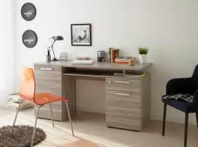 perseo modern study desk in silex oak wood effect finish