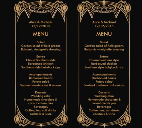 birthday menu card template 29 birthday menu templates free sle exle format