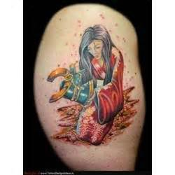 japanese tattoo woman kneeling tattoos pinterest