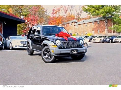 black jeep liberty 2005 2005 black clearcoat jeep liberty sport 4x4 108286854