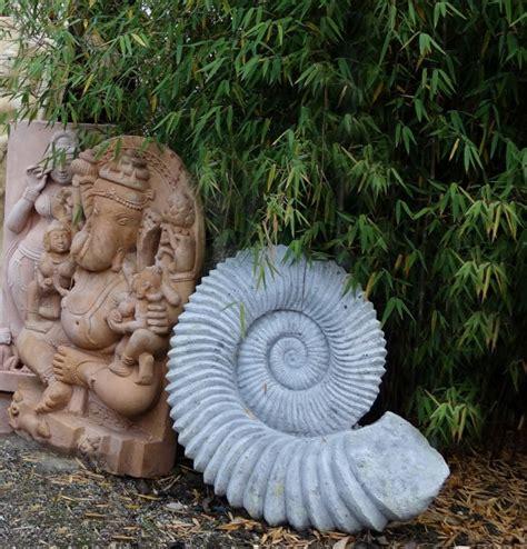 garten steinkunst ammonit steinfigurenshop asiatische steinkunst