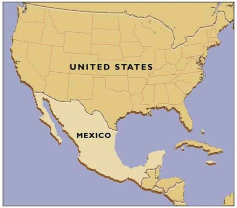 usa and mexico map united states and mexico map images