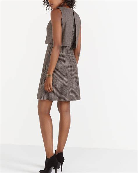 Plaid Sleeveless Dress plaid sleeveless dress reitmans