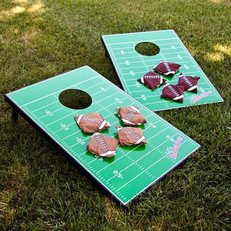 wild sports football field tailgate toss cornhole set