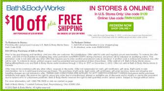 Free is my life coupon 10 off 30 purchase at bath amp body works