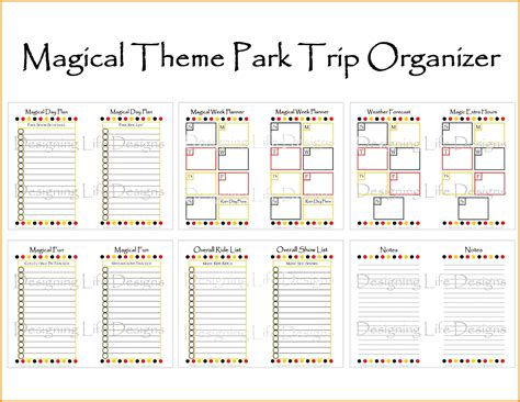 disney world planner template disney vacation itinerary template calendar templates