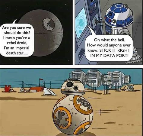 R2d2 Meme - bb 8 is the secret love child of r2 d2 and the imperial