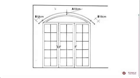 gardinenstange rundbogenfenster segmentbogen ausmessen f 252 r gebogene gardinenstange