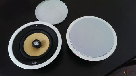b w ccm80 in ceiling speakers pair white photo 700882