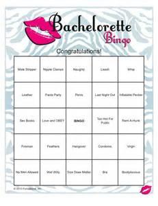 Bachelorette Bingo Template by Bachelorette Bingo Saucy Bridal Shower