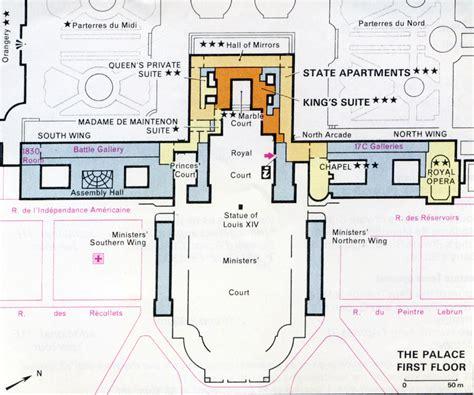 palace of versailles floor plan chateau versailles plan
