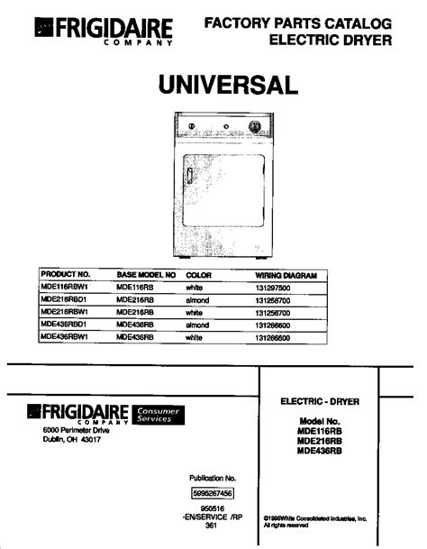 electric dryer wiring diagram on for frigidaire electric