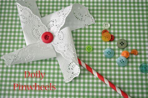 Handmade Pinwheels - handmade wedding doily pinwheels
