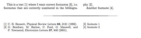 correct footnote format exle bibliographies how to add correctly numbered footnotes