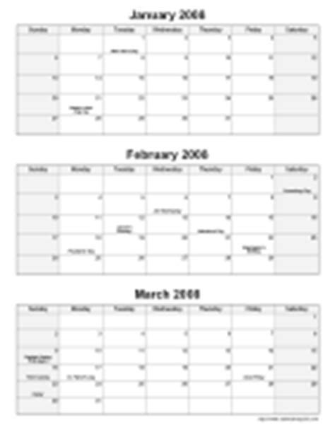 printable calendar first quarter 2016 printable monthly calendars calendarsquick