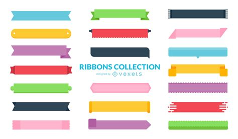 Ribbon Flat by Flat Ribbon Collection Vector