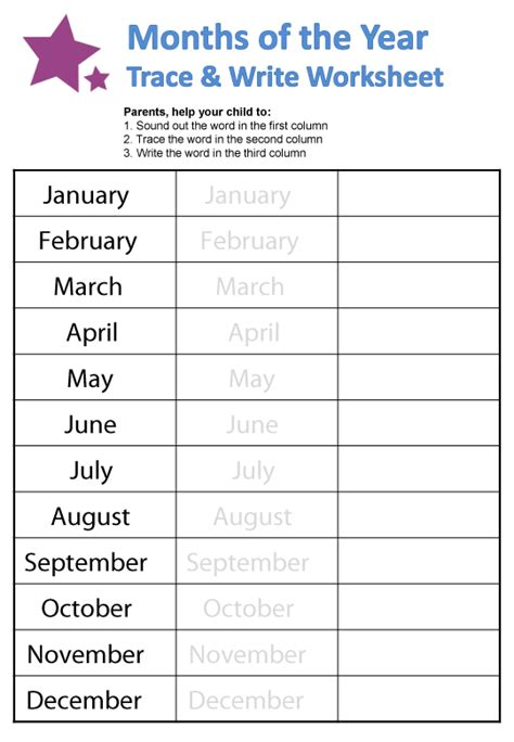 esl printable worksheets months of the year months of the year worksheets guruparents