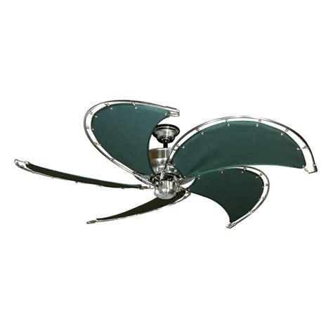nautical outdoor ceiling fans gulf coast nautical raindance ceiling fan brushed nickel