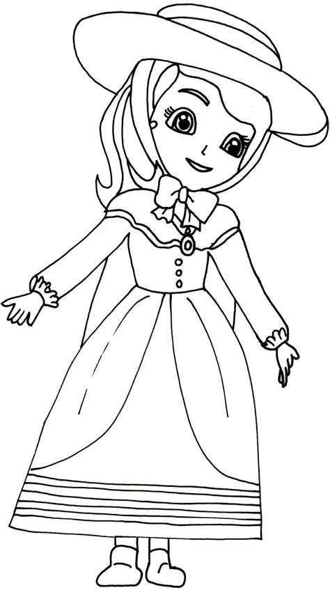 Cartoon Character Princess Sofia Coloring Pages Princess Color In Pages Free Coloring Sheets