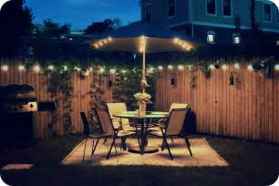 backyard lights paint the with light adding some summer shine