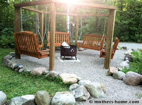 swing fire pit plans fire pit swing set as seen on pinterest mother s home