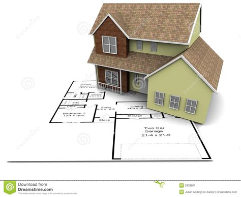 new house plan new house plans stock image image 2838901