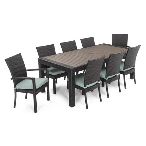 rst brands deco 9 patio dining set with bliss blue