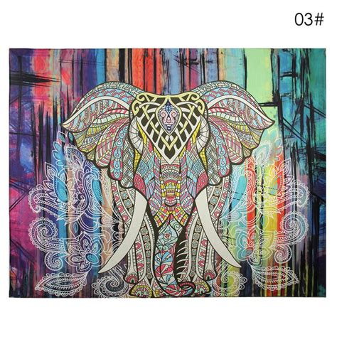 130x150cm Elephant Tapestry Colored Printed Decorative 6 new wall carpet elephant tapestry colored printed