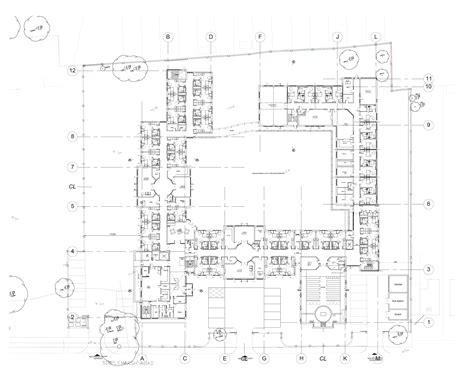 residential care home proposed ground floor plan