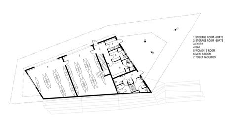 floor plan holder kayak club gril kikelj arhitekti archdaily