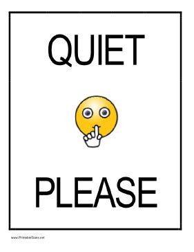 printable quiet signs printable quiet please sign