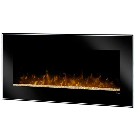 Crushed Glass For Fireplace by Dimplex Wall Mount Fireplaces Dusk Wall Mount With Crushed Glass Embers Becker Furniture World