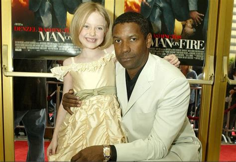 Denzel Washington Con Dakota Fanning Denzel Washington