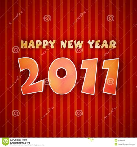 colorful words of happy new year 2011 stock photos image