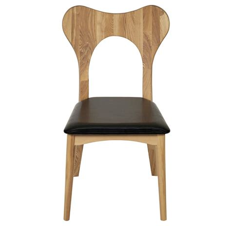 taft industrial loft modern wood leather dining chair
