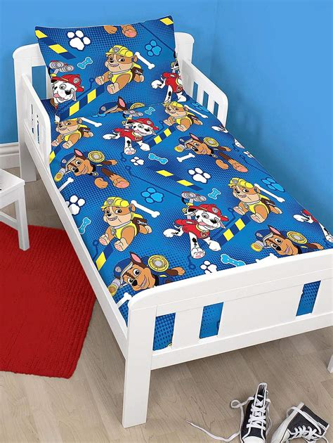 paw patrol toddler bedding paw patrol rescue duvet quilt cover bedding set to fit