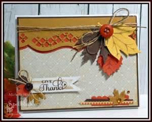 diy handmade card by designer woerner for spellbinders fall leaves thanksgiving